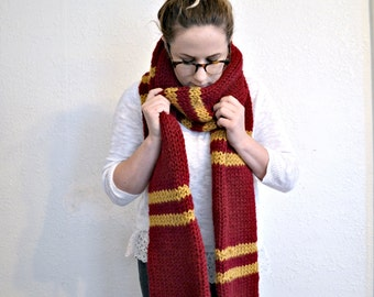 Harry Potter house scarves NOT ready to ship//Gryffindor Ravenclaw Slytherin Hufflepuff cosplay scarf//Custom sizes available for children