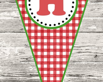 Pizza Party Birthday Banner DIY Printable