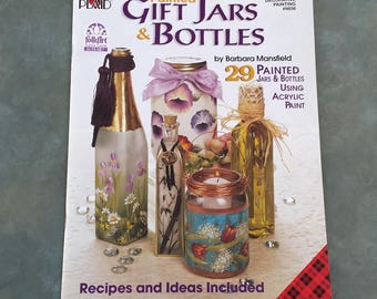 Painted Gift Jars & Bottles tole painting book, decorative painting instructions