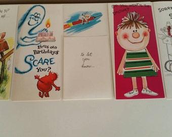 Complete Box Retro Cards, Humor Joke Cards, Birthday Get Well Baby Just Because, Good Housekeeping Door to Door Sales Greeting Cards
