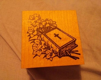Retired , Wood and Rubber Stamp  - Easter