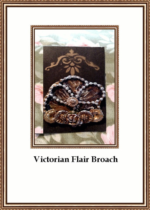 Country Victorian Handcrafted  Brooch