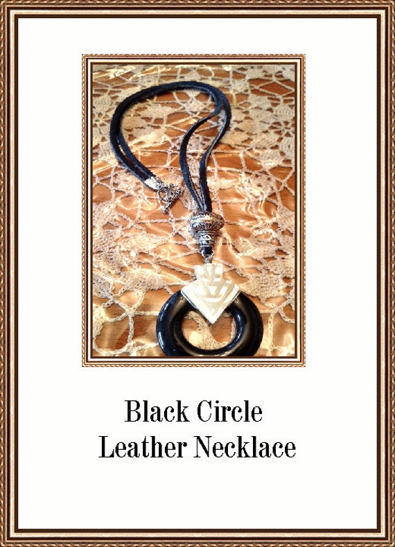 Classic Black and White Circle of Love Designer Necklace