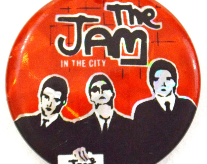 Vintage 70s The Jam In the City Pinback Button Badge Pin
