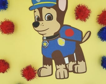 Chase Paw Patrol Invitations, Paw Patrol Birthday Invitation. Paw Patrol party, Chase Birthday Invitation, Boy Paw Patrol, Paw Patrol Invite