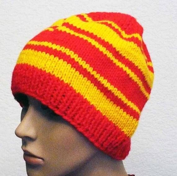 Striped Beanie Knitting Pattern : Knitting PATTERN, Knit Striped Beanie Pattern, PDF Knit Hats Patterns, Knit W...