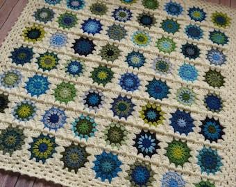 Baby Boy Granny Square Blanket - READY TO SHIP - Homemade Baby Shower Gift - Crochet Baby Blanket - Baby Boy Shower Gift - Baby Blanket