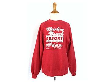 Iowa sweatshirt, vintage Iowa, vintage sweatshirt, Harlan Iowa,  funny sweatshirt, ironic sweatshirt, spirit lake Iowa, Harlan beach resort