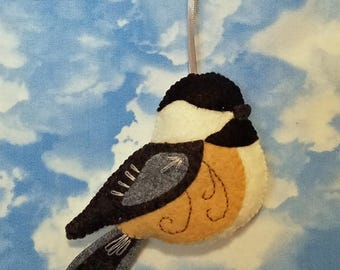 Felt Chickadee bird