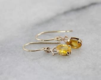 Petite Yellow Sapphire Drop Earrings P7NAC8-P
