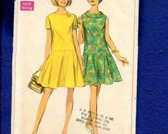 1960's Simplicity 7598 Flirty Flared Skirt Drop Waist Pattern Size 42