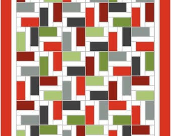 Twirl 2 quilt pattern - easy layer cake quilt - full sized quilt pattern - modern quilt pattern - downloadable pdf pattern
