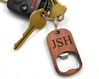 Bottle Opener Keychain | Anniversary Gifts Under 20 | Custom Wooden Bottle Opener Keychain - Anniversary Gift | Keyring Bottle Opener