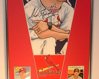 St Louis Cardinals Pat Matheny Player Pennant & Cards...Custom Framed!!
