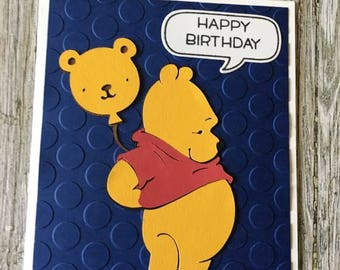 Winnie the Pooh Happy Birthday card-Disney birthday card-Winnie the Pooh birthday card-Disney Happy Birthday card