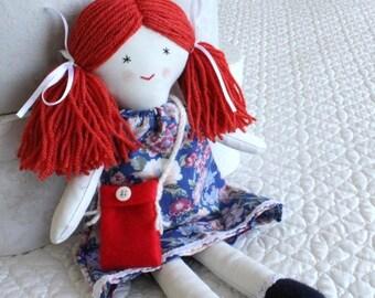 Traditional cloth Rag dolls, rag dolls, rag doll with dress, girls doll, babies first doll, soft toy, puppe