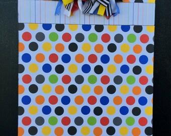 Bright Polka Dot Clipboard