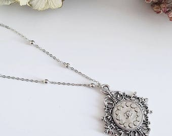Chanel vintage button Rosary necklace