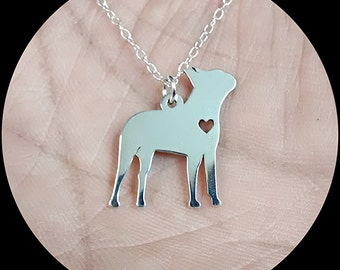 Boston Terrier Necklace - Engraving Pendant - Sterling Silver Jewelry - Gold Jewelry - RoseGold Jewelry -Personalized Pet Jewelry - Dog Gift