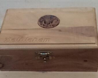 Vintage olive wood Box