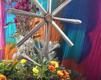 Handcrafted Silverware Flower