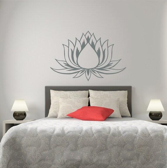 Items Similar To Lotus Wall Decal Flower Vinyl Sticker