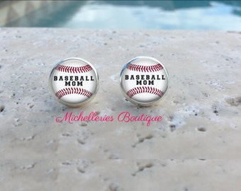 Baseball Personalized Earrings,Baseball Studs,Baseball Jewelry,Baseball Accessories,Personalized Baseball,Gifts for Her,Gifts under 10,MB321