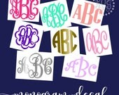 Glitter Monogram Decal, Monogram Decal, Monogram Sticker, Yeti Decal for Women, Monogram Stickers, Car Monogram Decal, Rtic Cup Decal
