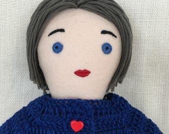 Handmade cloth doll one-of-a-kind: Serenetta