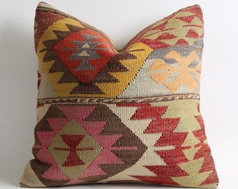 Decorative Kilim Pillows Bohemian Home Decor Handwoven Pillow Kilim Cushion Turkish Pillows Throw Pillows For Sofa Ethnic Home Decor