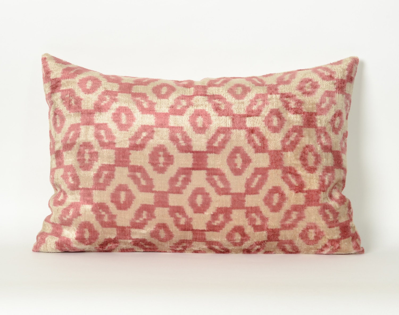 throw pillow velvet pillow ikat pillow ikat decorative by pillowme