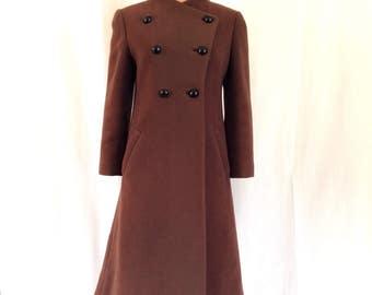 1960's Elizabeth Arden Structured Wool Coat Sz. M