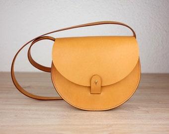 Woman's Leather Purse, Sol Saddlebag, Handmade Crossbody Bag, Brown Purse, Vintage Leather bag, Vegetable Tanned Leather Bag, Shoulder Bag