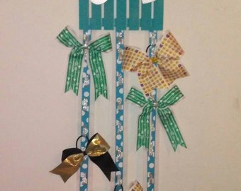 Custom Color and Letter Cheer Hair Bow Holder