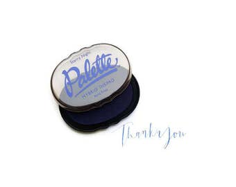 Navy Blue Stamp Pad, Royal Blue Stamp Pad, Blue Ink Pad, Navy Blue Ink, Rubber Stamp Pad, Stamp Ink, Waterproof Ink, Permanent Ink, Pad,
