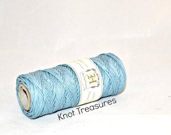 Light Blue Hemp Twine, Blue 1mm Dyed Hemp Cords, Twine, Hemp Twine, Light Blue Strings