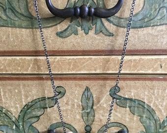 Handmade wooden beaded necklace (1x hexagon)