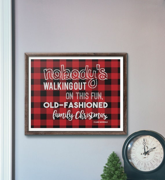 Funny Old Fashioned Quotes: Items Similar To Funny Quote From Christmas Vacation Red