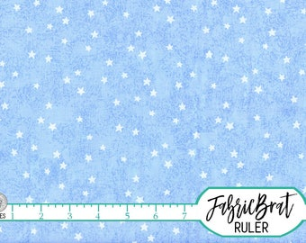 SKY BLUE STAR Fabric by the Yard, Fat Quarter Baby Blue Fabric Stars Blue Sky Fabric 100% Cotton Fabric Quilting Fabric Yardage w3-34