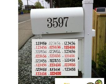 Mailbox Numbers, Mailbox Address Decal, Mailbox Decals, Mailbox Number Decal, Mailbox Address Decal