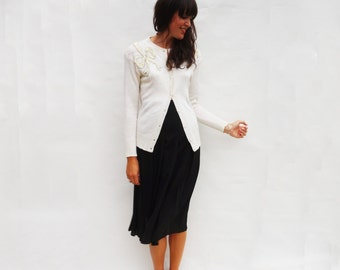 Black Pleated Skirt, Vintage 1980s High Waist Skirt , Fitted Skirt, Vintage Midi Skirt, Womens Skirts, Long Skirt, 80s Vintage Skirt, Small