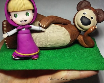 Masha and the bear action figure