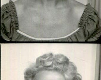 Vintage Photo Booth Strip..The Perfect Smile, 1950's Original Found Photo, Vernacular Photography