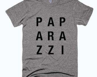 Paparazzi Tshirt - Paparazzi Tee - Typographic Tshirt - Funny Tshirt - Unisex Printed T-shirt - Gray Tshirt - Cliche Zero