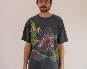 90s Ocean Sealife Tee Shirt Large