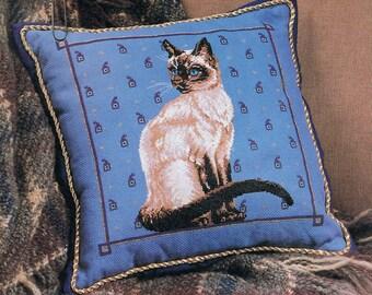 CROSS STITCH PATTERN - Siamese Cat Counted Cross Stitch Pattern - Cat Cross Stitch - Sitting Cat - Vintage Cross Stitch