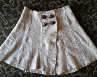 Upcycled Wool Wrap Around Skirt