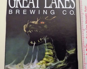 Great Lakes Brewing Lake Erie Monster Spiral Notebook. Upcycled Journal Recycled Book Spiral Bound