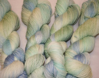 Superwash Hand Dyed Sock Yarn:  Sea Glass