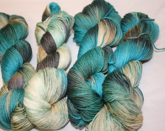Superwash Hand Dyed Sock Yarn:  Spa Day
